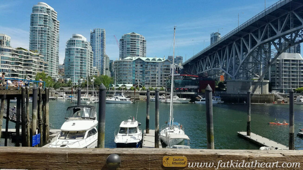 Vancouver BC from Granville Island
